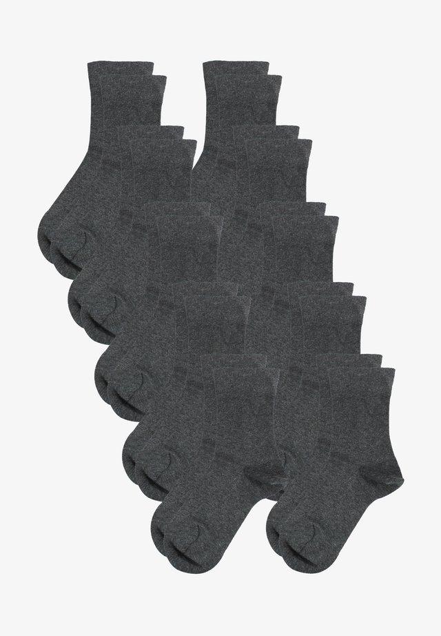 10 PACK - Socks - graumelange