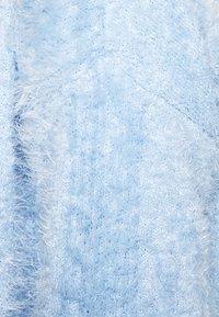 Miss Selfridge Petite - EYELASH EDGE TO EDGE CARDIGAN - Strikjakke /Cardigans - light blue - 5