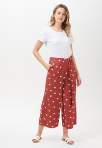 Sugarhill Brighton - OTTILIE POLKA - Trousers - brown - 0