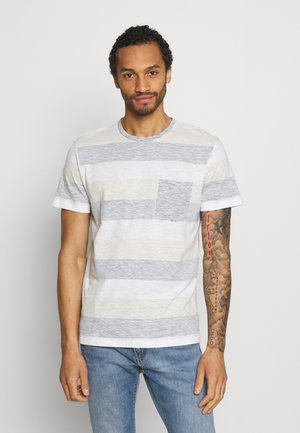 JJSTRIPE TEE CREW NECK - T-shirt print - navy blazer