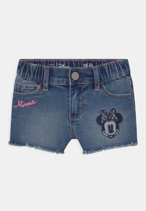 TODDLER GIRL MINNIE MOUSE - Džínové kraťasy - blue denim