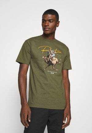 WARRIOR TEE - Printtipaita - military green