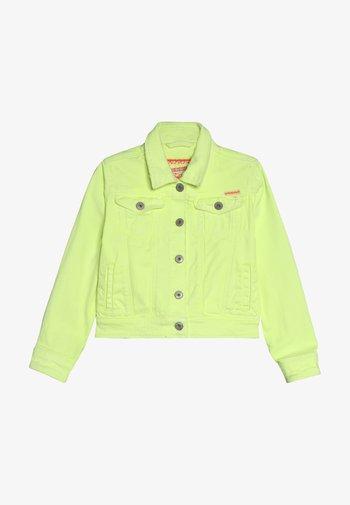 TOSCANE - Denim jacket - neon yellow