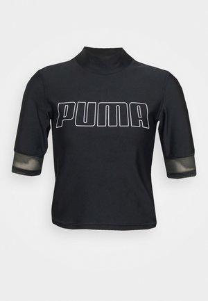 TRAIN EVERSCULPT MOCK NECK - T-shirt z nadrukiem - black