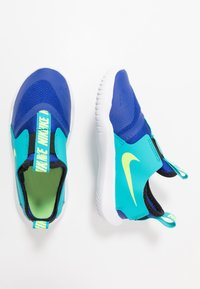 Nike Performance - FLEX RUNNER - Hardloopschoenen neutraal - hyper blue/ghost green/oracle aqua/black - 0