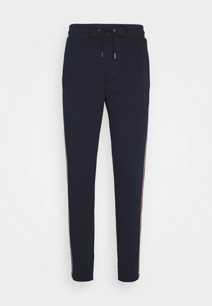 MIX LOGO TAPE TRACK PANT - Pantaloni sportivi - midnight