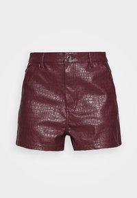 Missguided - CROC - Shorts - plum - 3