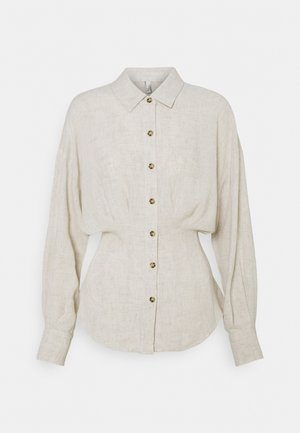 LOOSE PLEATED SHIRT - Blouse - beige