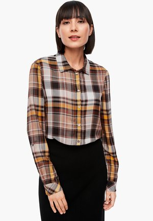 Button-down blouse - brown check