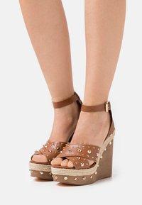 River Island - Platform sandals - brown light - 0