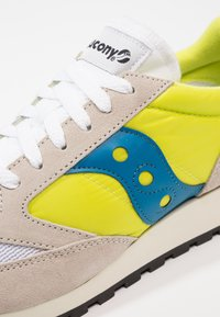 Saucony - JAZZ ORIGINAL VINTAGE - Trainers - white/neon yellow - 5