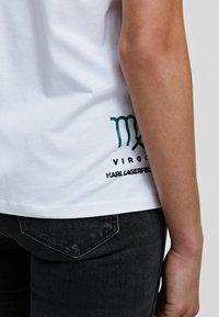 KARL LAGERFELD - K/ZODIAC - VIRGO - T-Shirt print - white - 4
