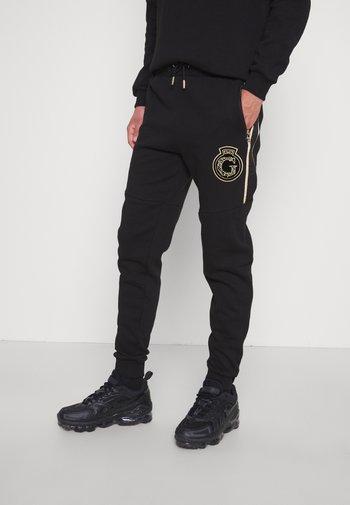 RAYLOW JOGGER - Pantaloni sportivi - jet black/gold