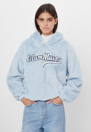 MIT STICKEREI  - Sweat à capuche - light blue