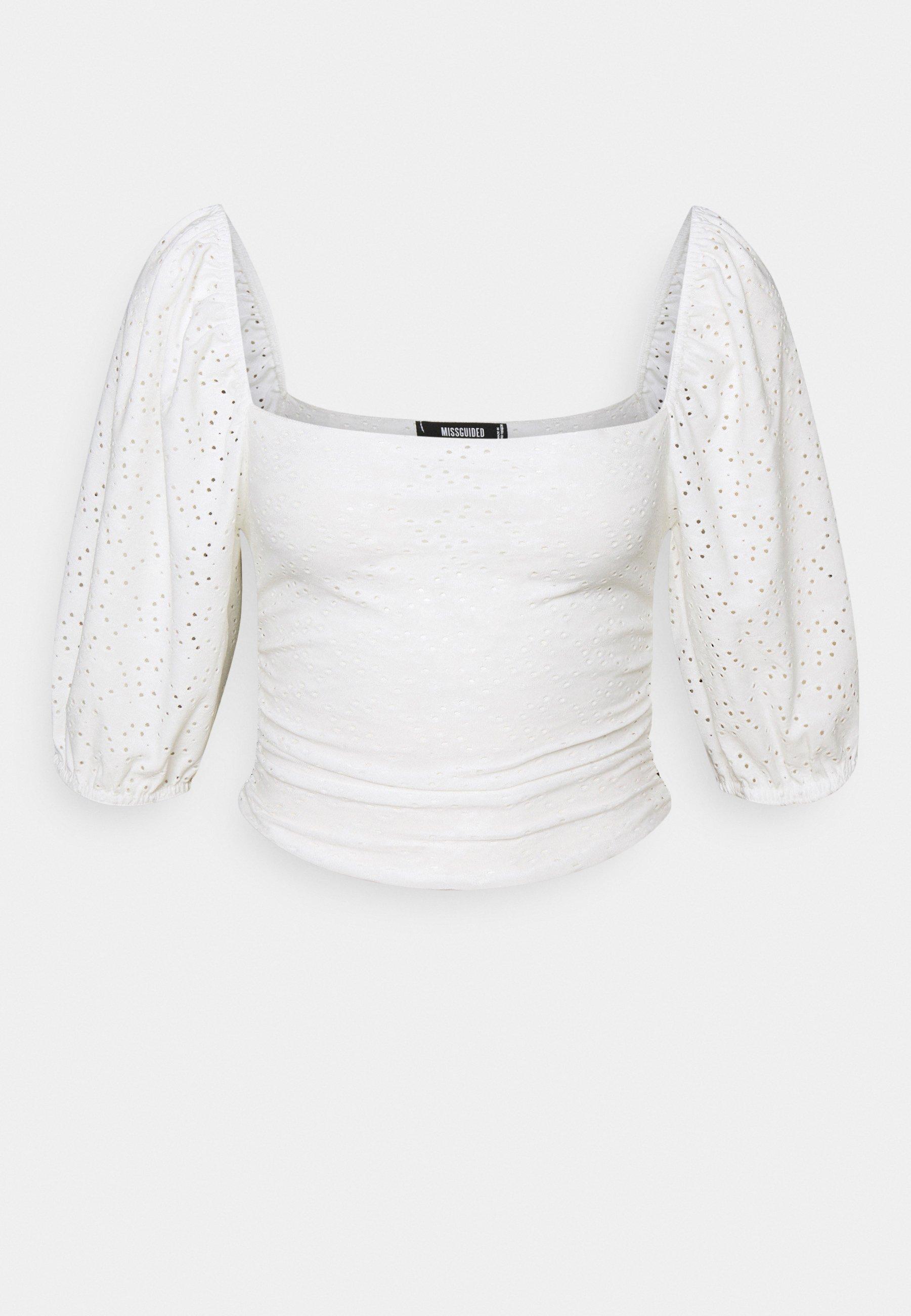 Women MILKMAID BRODERIE CROP - Long sleeved top
