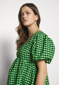 Topshop Maternity - GINGHAM MINI - Day dress - lime - 5