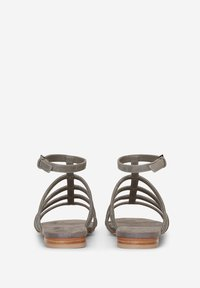 Marc O'Polo - MIT PERLEN-STICKEREI - Sandals - dark grey - 6