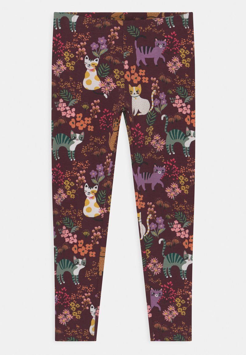 Lindex - MINI PRINT CATS - Legíny - dark lilac