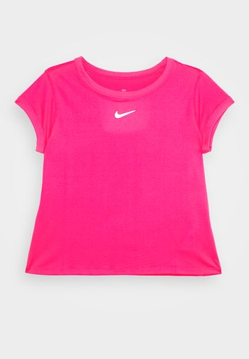 DRY  - Jednoduché triko - vivid pink/white