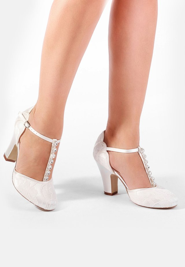 ADELIA - High heeled sandals - white