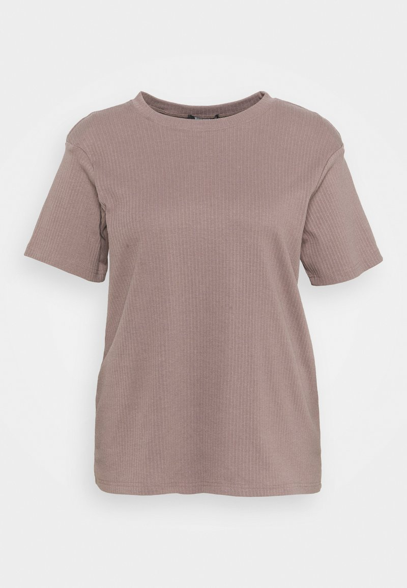 Missguided Plus - PLUS SHOULDER PAD  - Print T-shirt - brown