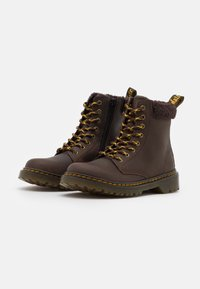 Dr. Martens - 1460 COLLAR REPUBLIC WP - Lace-up ankle boots - dark brown - 1