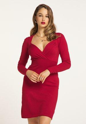 Gebreide jurk - rot