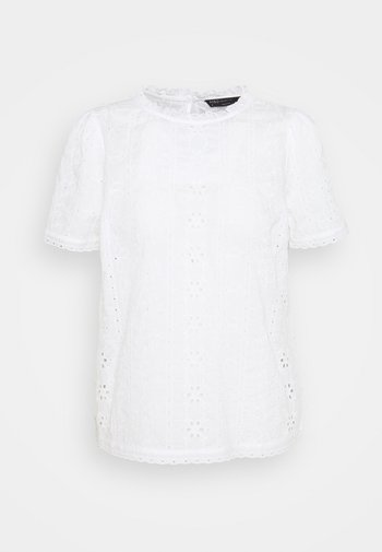 BRODERIE TEE - Blouse - white