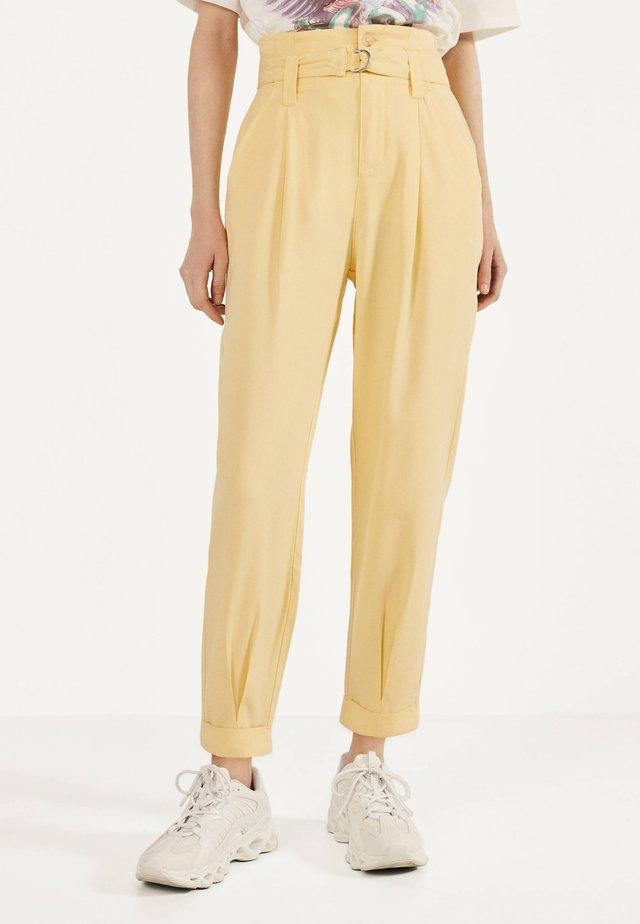 Pantalon classique - mustard yellow