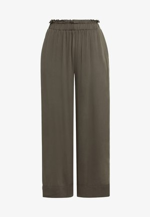 MIT GUMMIZUG - Trousers - fango