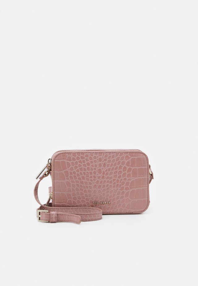 STINA DOUBLE ZIP MINI CAMERA BAG - Taška s příčným popruhem - mid pink