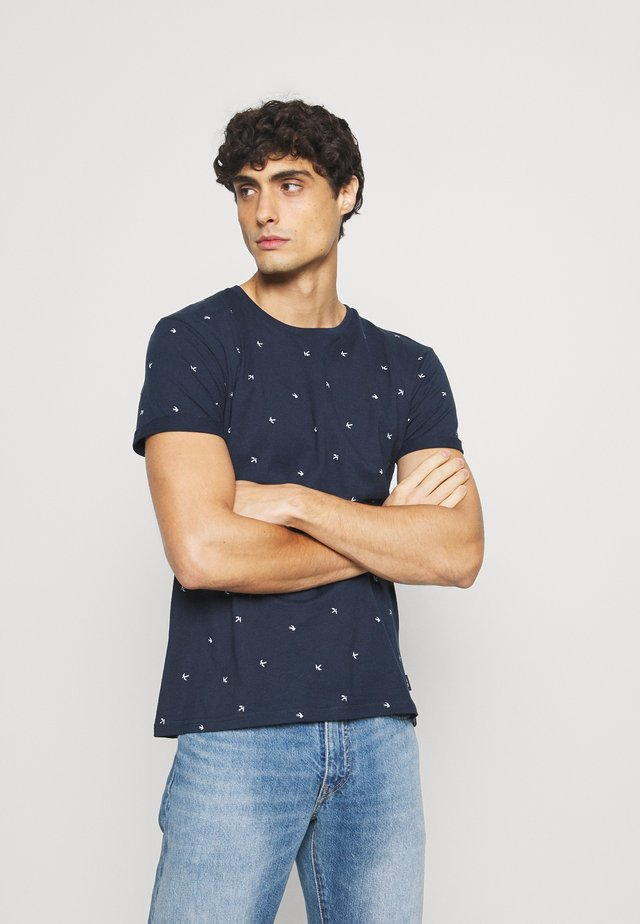 FRIEDMAN - T-shirt imprimé - dark blue