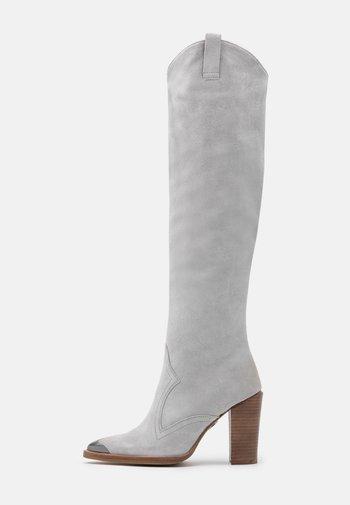 NEW AMERICANA - Laarzen met hoge hak - ice grey