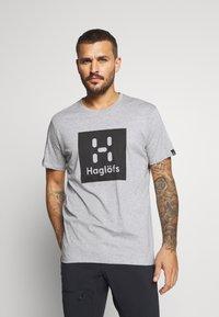 Haglöfs - CAMP TEE  - T-shirt med print - grey melange/true black - 0