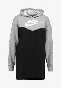Nike Sportswear - HOODIE - Denní šaty - black/white - 4