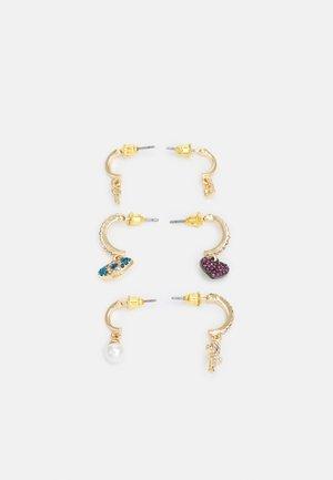 HAEDI 3 PACK - Earrings - clear/blue/blush/gold-coloured