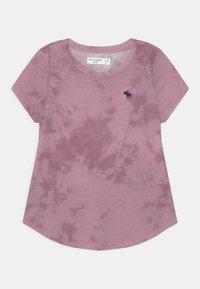 Abercrombie & Fitch - CORE CREW  - Print T-shirt - purple - 0