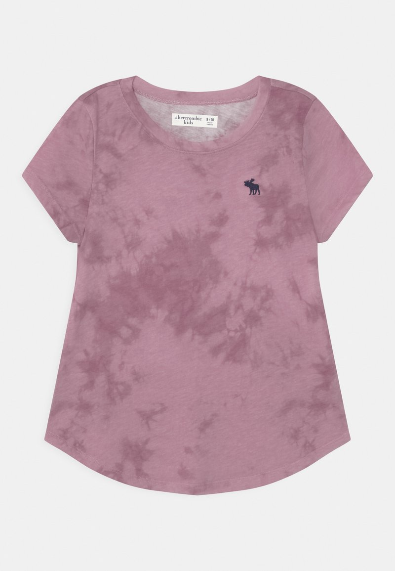 Abercrombie & Fitch - CORE CREW  - Print T-shirt - purple