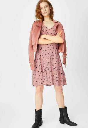 FLARE - Day dress - coral