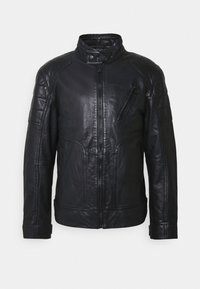 JOOP! Jeans - LIMA - Kožená bunda - dark navy - 4