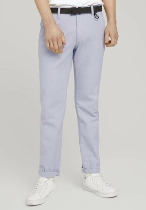 STRUCTURED - Chinos - grey white dobby