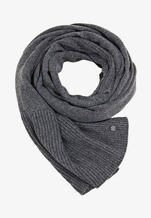 STRICK AUS RECYCELTEM GARN - Scarf - medium grey