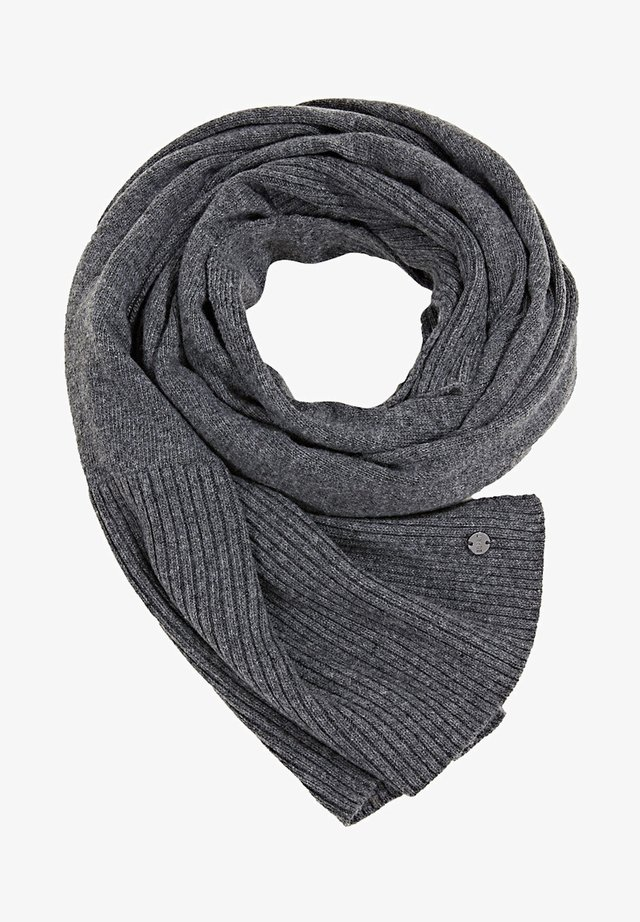 STRICK AUS RECYCELTEM GARN - Scarf - medium grey