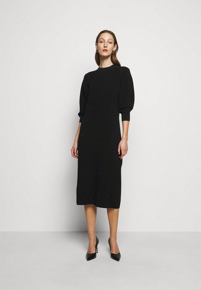 SADIE - Abito in maglia - black