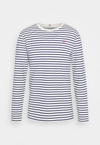 SAILOR STRIPE - Long sleeved top - off white/dark navy/red