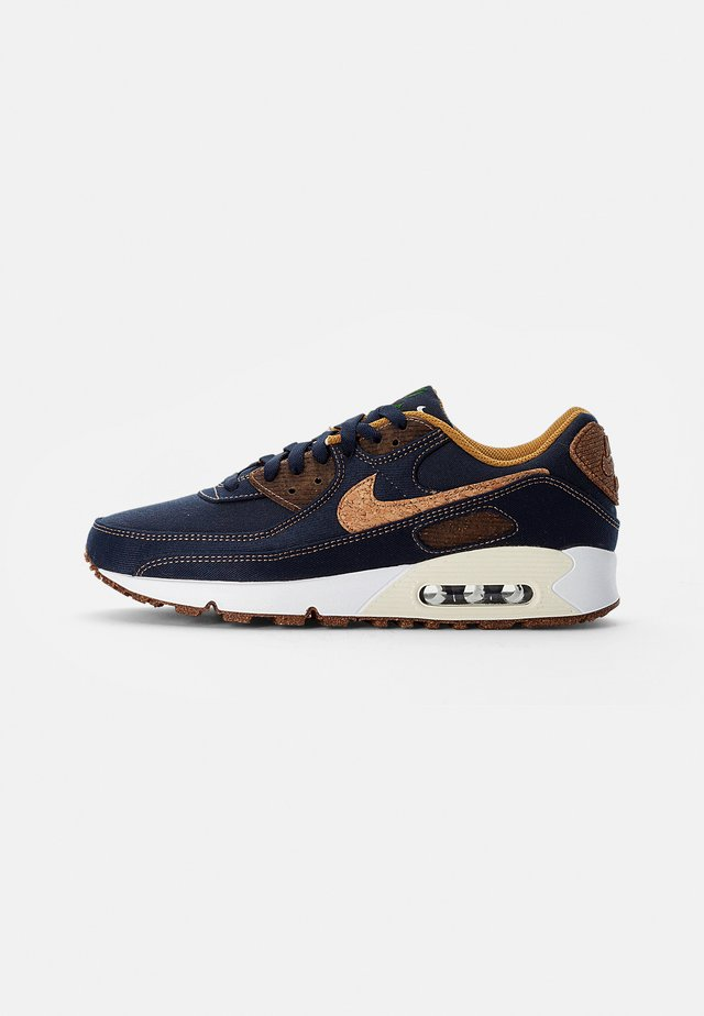 NIKE AIR MAX 90 - Trainers - obsidian/wheat-coconut milk-white