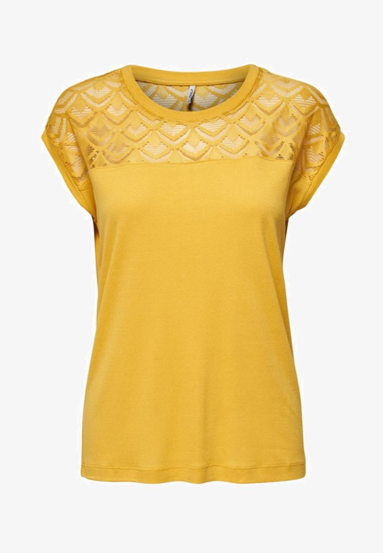 ONLY - T-shirts med print - yellow