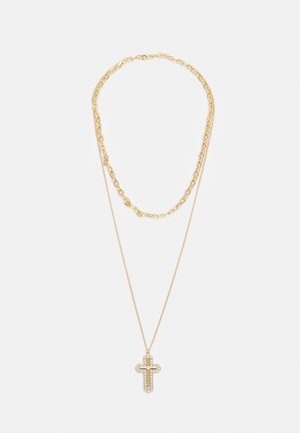 MIX CHAIN CROSS  - Necklace - gold-coloured