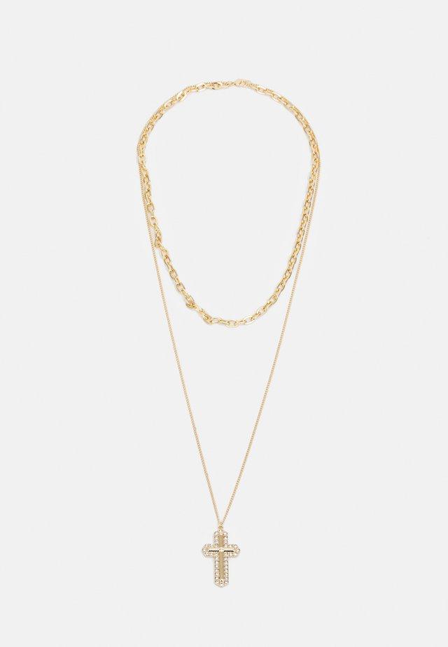 MIX CHAIN CROSS  - Kaulakoru - gold-coloured