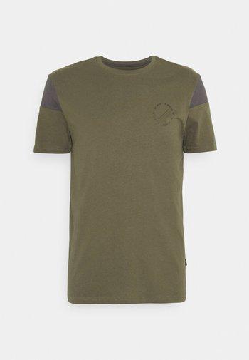 Print T-shirt - olive, dark grey